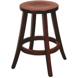 Modern Bar Stool Amish Made! Wood / Fabric Seat - Swivel / Stationary Solid Wood
