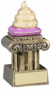 "Comic Doo Doo Golf Cup Pooh Trophy Sh*t Award 12cm (4.75"") FREE ENGRAVING & P&P"