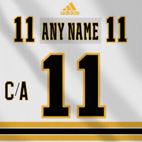 Boston Bruins Adidas White Jersey Custom Any Name Any Number Pro Lettering Kit