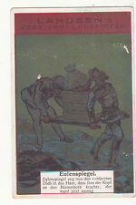 Lahusen's Foreigh Card Soldiers Carrying Basket w Person Vict Card c 1880s