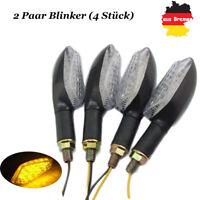 4x 16 LED Amber Lampe Universal Motorrad Mini Blinker Quad Roller Klassisch