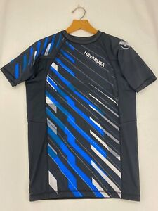 Mens Hayabusa Blue Rash Guard Size XL with Silicone Waistband