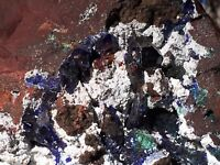 AZURITE & Malachite with Gibbsite - Morenci Mine, Clifton, Arizona
