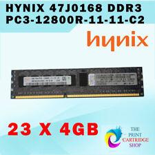 Lot of 23 Hynix IBM 47J0168 4GB 1Rx4 PC3-12800R-11-12-C2 Server RAM Memory