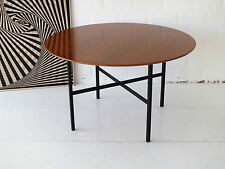 RARE 120cm ROUND FLORENCE KNOLL CONFERENCE TABLE DINING TISCH TEAK TECK 1950s
