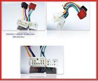 DIN Kabel Adapter Stecker Autoradio passend für TOYOTA RAV 4 Corolla Verso