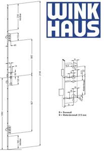 Winkhaus Mehrfachverriegelung Türverschluss STV-U2460 35 92/8 M2 MC #2095568
