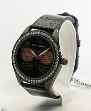 Betsey Johnson Women's Cool Kitty Black Watch BJ00685-12BX, New