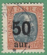 Iceland #138 used 50a on 5k surcharge 1925 cv $52.50