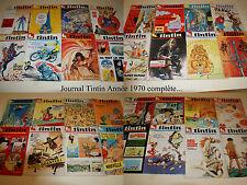 Tintin - Le journal des jeunes de 7 à 77 ans - Année 1970 complète - 53 Numéros.