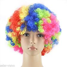 Perruques et toupets multicolores bouclés pour femme
