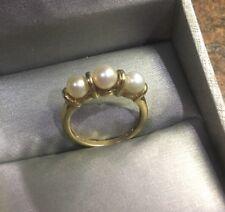 10k Gold Pearl Ring Sz 7.25