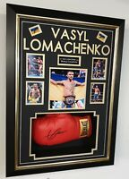 Vasyl Lomachenko Signed Boxing Glove Autographed Framed Display AFTAL DEALER COA