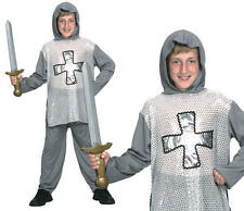 Childrens Kids English Knight Fancy Dress Costume Boys Medieval Outfit Childs S