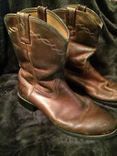 Ariat Brown Leather Roper Cowboy Western Boots Mens Size 10.5 D Style 35525