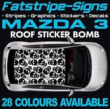 Mazda 3 Bomba de Gráficos Pegatinas Calcomanías de la etiqueta Engomada de techo coche 1.6 2.0 2.2 Dohc Turbo