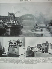 ANTIQUE PRINT DATED 1926 TELEPHONE TRANSMITTING PHOTOGRAPHS BY TELEPHONE VINTAGE