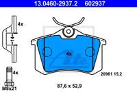 Bremsbelagsatz, Scheibenbremse für Bremsanlage Hinterachse ATE 13.0460-2937.2