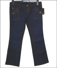 "BNWT Mujeres Oakley Rapture Stretch Jeans Denim industrial W32"" L33"" Nuevo"