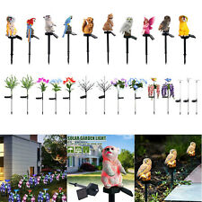 Solar LED Animal/Flower Ornament Light Outdoor Garden Yard Lawn Landscape Lamps