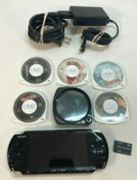 Sony PSP-3001 PlayStation Portable Console Bundle 3 Games 2 Movies No Battery