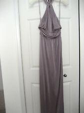 Temperley London Designer Halter Purples Rayon full length dress Size 6 FORMAL