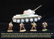 PAINTED 1:72 SOLDIERS BRITISH AIRBORNE DESERT RAT SET C