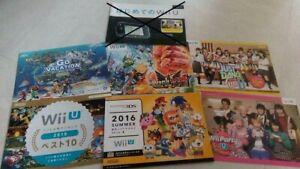 WII U NINTENDO 3DS SUPER MARIO BROS ZELDA METROID SONIC JAPAN PROMO BOOKLET X14