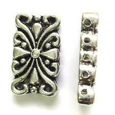 10 Tibetan Silver Beads 5 Holes 24mm Spacer Beads