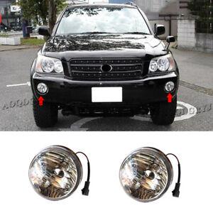 For Toyota Highlander KLUGER 2001-2003 Car Front Bumper Fog Lights DRL Lamp 2Pcs