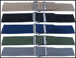 Top Quality Tough Tactical Woven Nylon Military Canvas watch strap 18-22mm