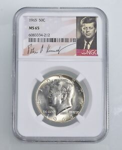 MS65 1965 - Kennedy Half Dollar Silver Graded NGC *435