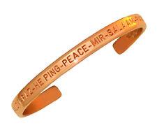 Sergio Lub Copper Cuff Bracelet – Peace Copper - Medium