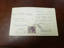 Vintage Post Card With A Stamp Of Brasil 1938 Traveling To USA .(P6)