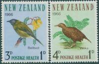 New Zealand 1966 SG839-840 Bell Bird and Weka Rail health set MNH