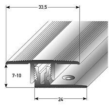 Klick-/Übergangsschiene Höhe 7–10 mm und 33.5 mm breit (2-tlg) Alu eloxiert