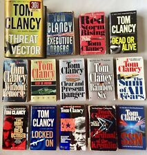 Lot of 14 Tom Clancy Spy/ Military/ Tech Paperback & Hardcover Books