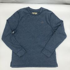 hollister california Mens Long Sleeve Short Blue Size Large Cotton Polyester