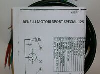 Electric System Wiring Motorcycle Benelli Motobi Sport Special + Knitting