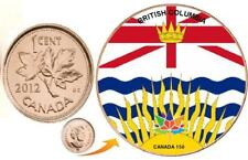 2012 Canadian Penny - BC Provincial Flag Canada 150