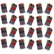 """12 Pairs 10"""" Large Rainbow Hide Furniture Gloves Work Wear Safety Gardening"""