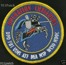 OPERATION CRUSADERS DETROIT MI DPD FBI USMS ATF DEA MSP WCSO MDOC POLICE PATCH