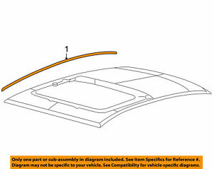 2010 2011 2012 Ford Fusion Left Roof Molding 6E5Z-5451729-AB OEM