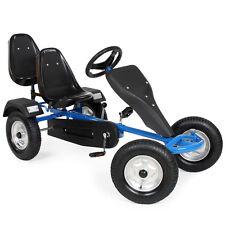 2-SITZ Go-Kart Rennkart Gocart Kinder Tretauto Cart Gokart Kinderfahrzeug blau