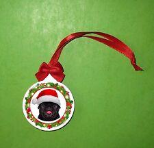 MOPS PUG Weihachten Weihnachtsbaum Ornament, Christmas ornament decoration MV3