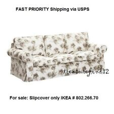 NEW EKTORP Sofa COVER Norlida White Beige Authentic IKEA Floral Slipcover NEWOB