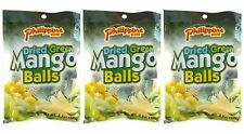 3 BAG Philippine Brand Dried Green Mango Balls Chewy Fruit Candy Snacks 18 pcs