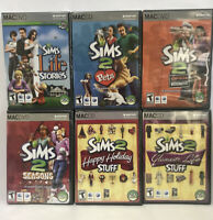 NEW SIMS 2 MAC LOT OF 6 Happy Holidays Life Stories Glamour Life Pets Seasons