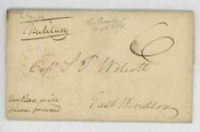 Mr Fancy Cancel Stampless Hartford Ct East Windsor Military 1833 FLS #114