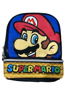 Nintendo Super Mario Soft Sided Double Compartment Lunch Box Insulated NWT